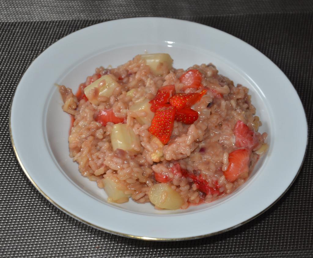 Spargel Erdbeer Risotto